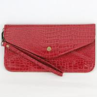 Wristlet - Crocodile - Red