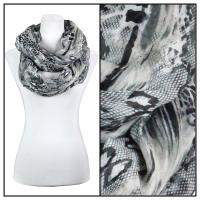 Infinity Scarves Wide - Snake Print 3062 - Grey