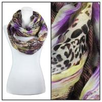 Infinity Scarves Wide - Snake Print 3062 - Purple