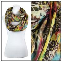 Infinity Scarves Wide - Snake Print 3062 - Yellow