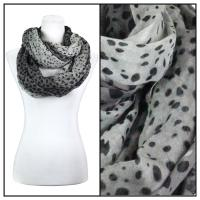 Infinity Scarves Wide - Animal Print 3064 - Black