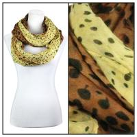 Infinity Scarves Wide - Animal Print 3064 - Yellow