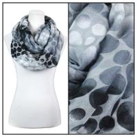 Infinity Scarves Wide - Multi Dots 3109 - Black