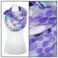 Infinity Scarves Wide - Multi Dots 3109 - Blue