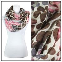 Infinity Scarves Wide - Multi Dots 3109 - Pink