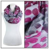 Infinity Scarves Wide - Multi Dots 3109 - Purple
