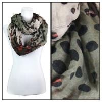 Infinity Scarves Wide - Animal & Dots 3119 - Black