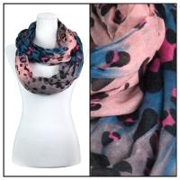Infinity Scarves Wide - Animal & Dots 3119 - Blue