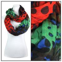 Infinity Scarves Wide - Animal & Dots 3119 - Brown