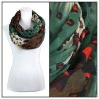 Infinity Scarves Wide - Animal & Dots 3119 - Green
