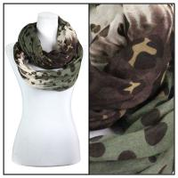 Infinity Scarves Wide - Animal & Dots 3119 - Khaki