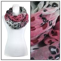Infinity Scarves Wide - Animal & Dots 3119 - Pink
