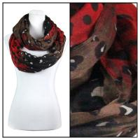 Infinity Scarves Wide - Animal & Dots 3119 - Red