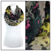 Infinity Scarves Wide - Animal & Dots 3119 - Yellow