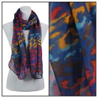 Scarves - Multi Leopard 3131 - Blue