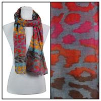 Scarves - Multi Leopard 3131 - Grey