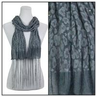 Scarves - Sequined Leopard 3139 - Grey