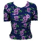 Camisas  manga corta de Popcorn gastrónomo - Navy With Purple Flowers