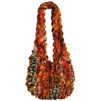 Carteras de Popcorn de lujo - Abstract Zebra Red-Orange- Paprika