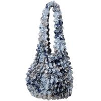 Carteras de Popcorn de lujo - Abstract Multi Navy- Silver
