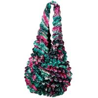 Carteras de Popcorn de lujo - Magenta-Green Floral- Hunter Green