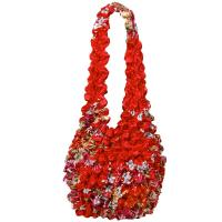 Carteras de Popcorn de lujo - Raspberry Floral on Red- Scarlet