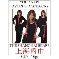 Display and Merchandising - Shanghai Scarves Sign - FREE Limit 2 per Order