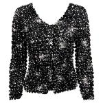 Gourmet Popcorn - Collarless Cardigan - Abstract Dots Black-White