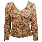 Gourmet Popcorn - Collarless Cardigan - Leopard with Roses