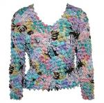 Gourmet Popcorn - Collarless Cardigan - Tropical Breeze