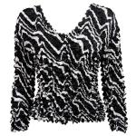 Gourmet Popcorn - Collarless Cardigan - Ribbon Black-White