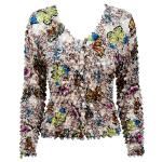 Gourmet Popcorn - Collarless Cardigan - Butterflies - Tan
