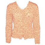 Gourmet Popcorn - Collarless Cardigan - Peach
