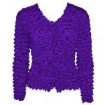 Gourmet Popcorn - Collarless Cardigan - Royal Purple