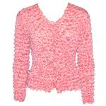 Gourmet Popcorn - Collarless Cardigan - Carnation