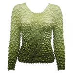 Coin Fishscale - Long Sleeve - Variegated Olive