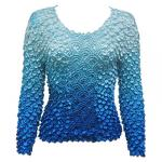 Coin Fishscale - Long Sleeve - Variegated Turquoise