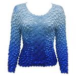 Coin Fishscale - Long Sleeve - Variegated Blue