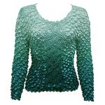 Coin Fishscale - Long Sleeve - Variegated Seagreen