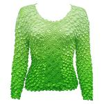 Coin Fishscale - Long Sleeve - Variegated Green