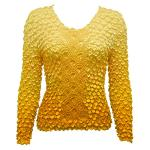 Coin Fishscale - Long Sleeve - Variegated Yellow