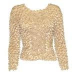 Coin Fishscale - Long Sleeve - Light Peach