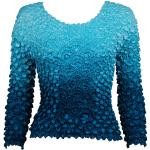 Coin Fishscale - Long Sleeve - Variegated Teal