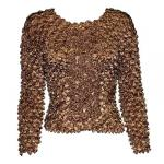 Coin Fishscale - Long Sleeve - Brown