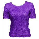 Red Hatters Selections - Solid Origami Short Sleeve Purple