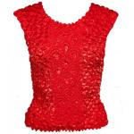 Red Hatters Selections - Popcorn - Gourmet Coin Fishscale Sleeveless Red