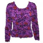 Red Hatters Selections - Popcorn - Gourmet Long Sleeve Purple Garden