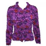 Red Hatters Selections - Popcorn - Gourmet Cardigan Purple Garden