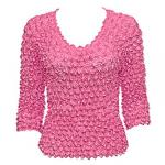 Silky Touch Popcorn - Three Quarter Sleeve - Hot Pink