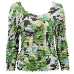 Silky Touch Popcorn - Three Quarter Sleeve - Tropical Green